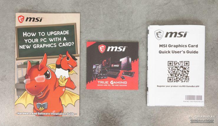 MSI Radeon RX 5500 XT Gaming X 8GB - Accesorios