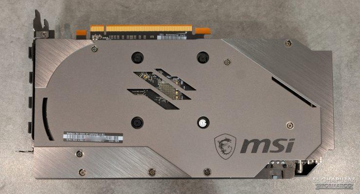 MSI Radeon RX 5500 XT Gaming X 8GB - Lado trasero