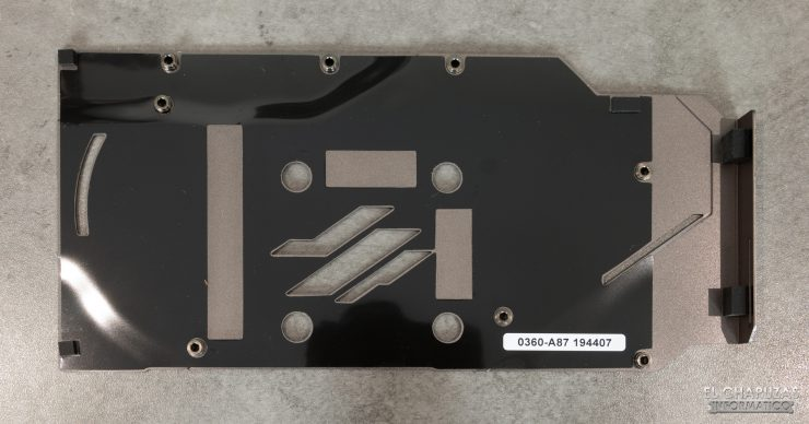 MSI Radeon RX 5500 XT Gaming X 8GB - Backplate desmontado