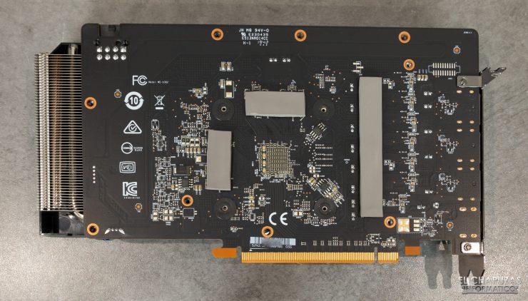 MSI Radeon RX 5500 XT Gaming X 8GB - PCB trasero