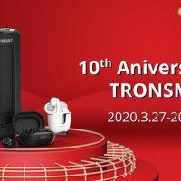 Tronsmart anuncia rebajas de hasta un 70% en auriculares/altavoces por su 10º Aniversario