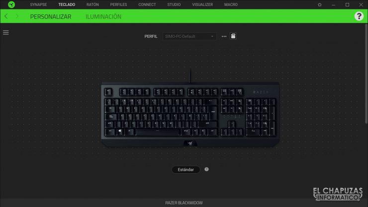 Razer Blackwidow - Software 1