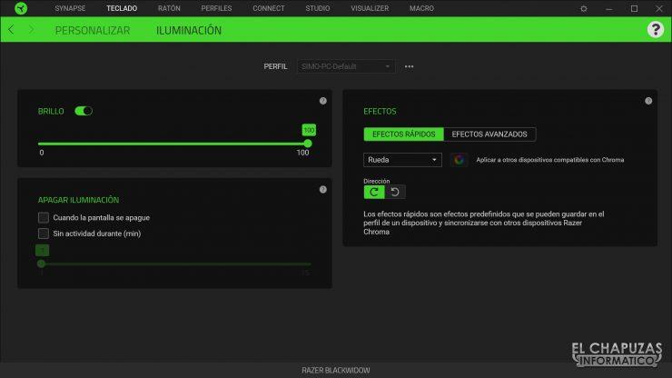 Razer Blackwidow - Software 3