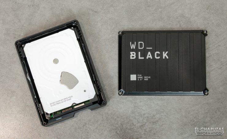 Western Digital WD_Black P10 - Carcasa abierta