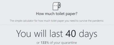 Llega la calculadora de papel higiénico, asegura tu limpieza durante la cuarentena