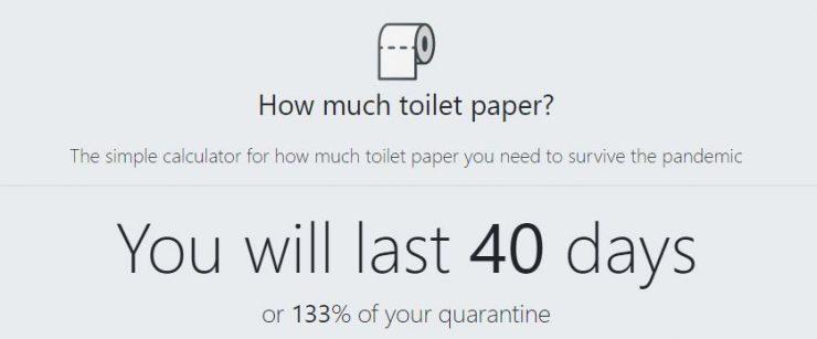 Calculadora de papel higiénico