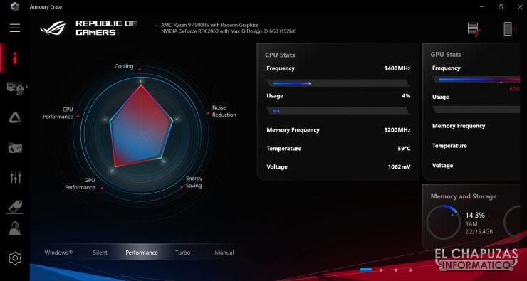 Asus ROG Zephyrus G14 - Software 1