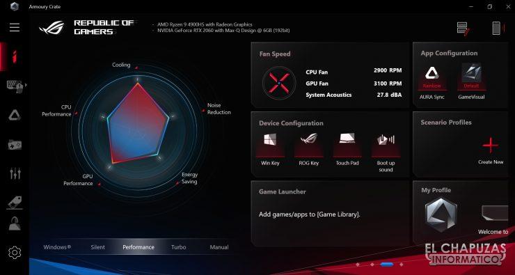 Asus ROG Zephyrus G14 - Software 2
