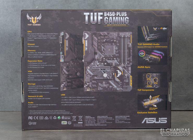 Asus TUF B450-Plus Gaming - Embalaje 2