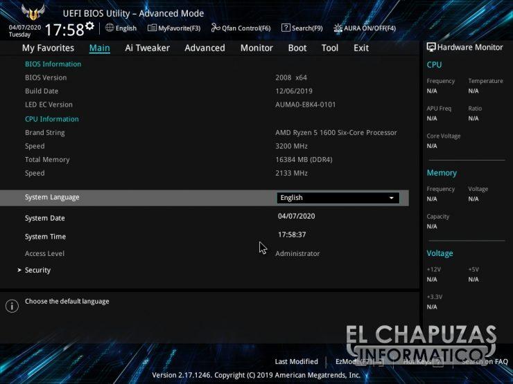 Asus TUF B450-Plus Gaming - BIOS 2