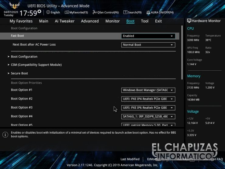 Asus TUF B450-Plus Gaming - BIOS 8