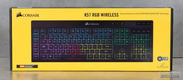 Corsair K57 RGB Wireless - Embalaje 1