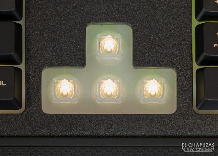 Corsair K57 RGB Wireless - Membrana