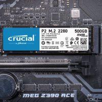 Crucial P2: SSD M.2 para la gama de entrada con únicamente capacidades de 250/500GB