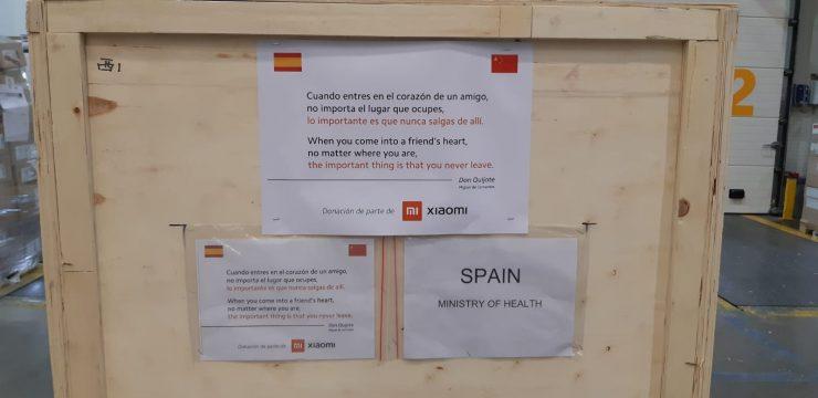 Donacion mascarillas Xioami a España 1 740x360 0