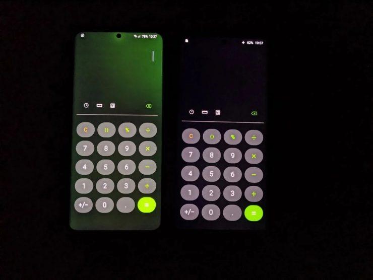 Galaxy S20 Ultra Exynos 990 con pantalla en verde 740x556 0