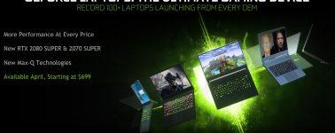 Nvidia anuncia sus GeForce RTX 2080 SUPER, RTX 2070 SUPER, GTX 1660 Ti y GTX 1650 Ti Mobile