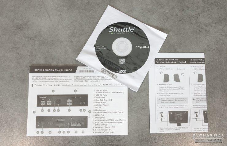 Shuttle XPC slim DS10U3 - Accesorios 1