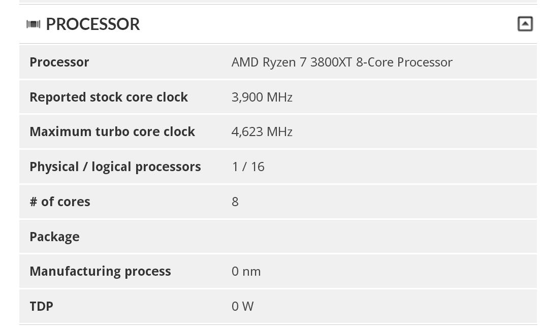 AMD Ryzen 7 3800XT 3DMark 1