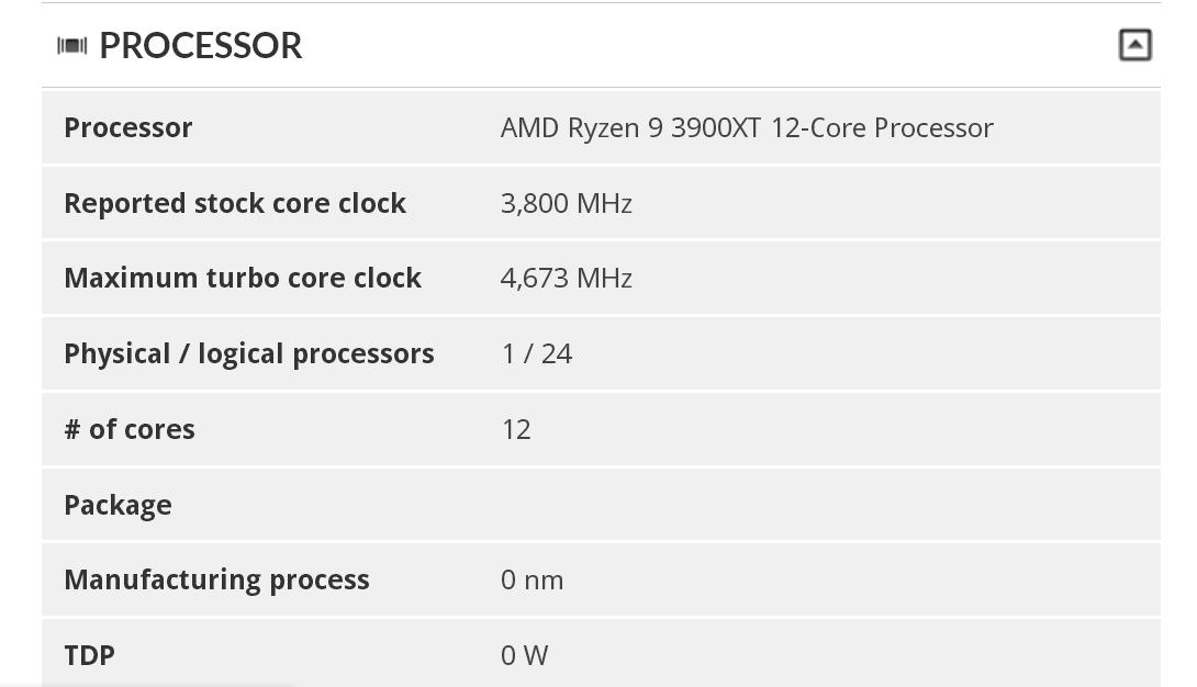 AMD Ryzen 9 3900XT 3DMark 0