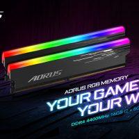 Gigabyte anuncia sus memorias AORUS RGB Memory @ 4400 MHz con chips Hynix D-die