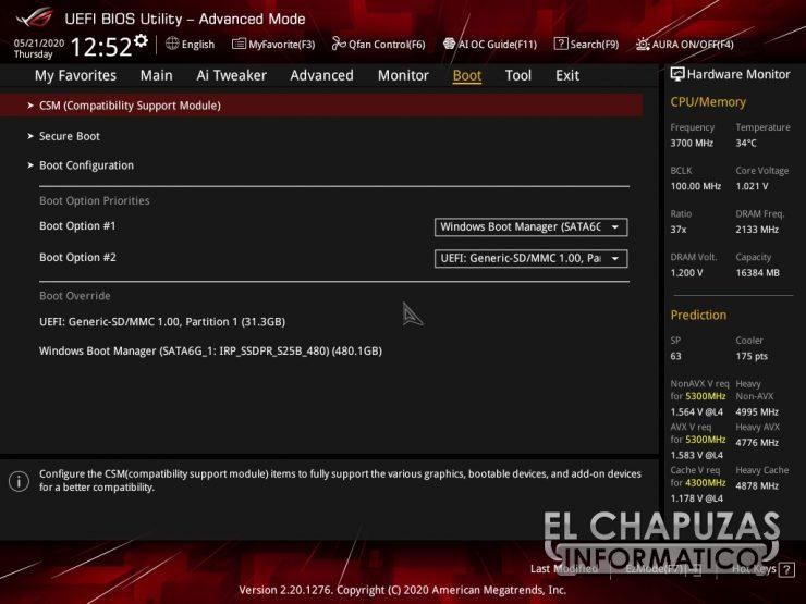 Asus ROG Strix Z490 I Gaming BIOS 15 740x555 48