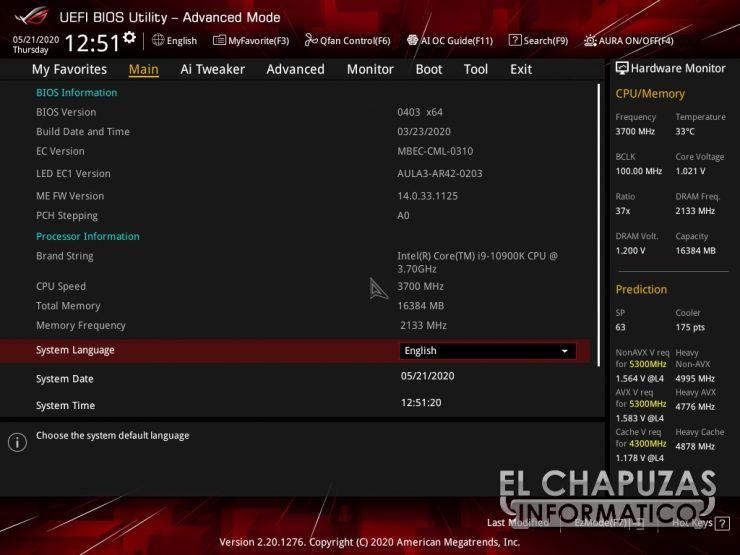 Asus ROG Strix Z490-I Gaming - BIOS 2
