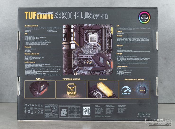 Asus TUF Gaming Z490-Plus (Wi-Fi) - Embalaje 2