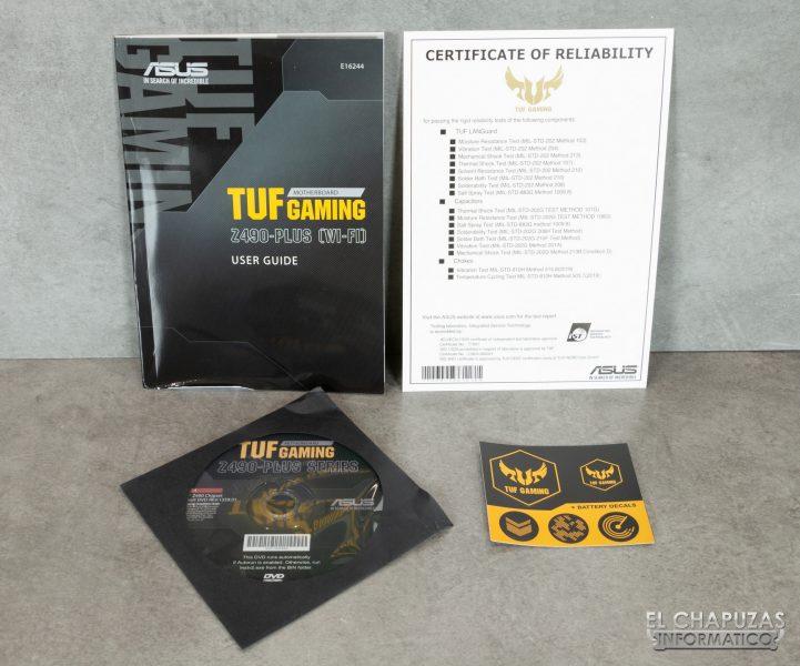 Asus TUF Gaming Z490-Plus (Wi-Fi) - Accesorios 1