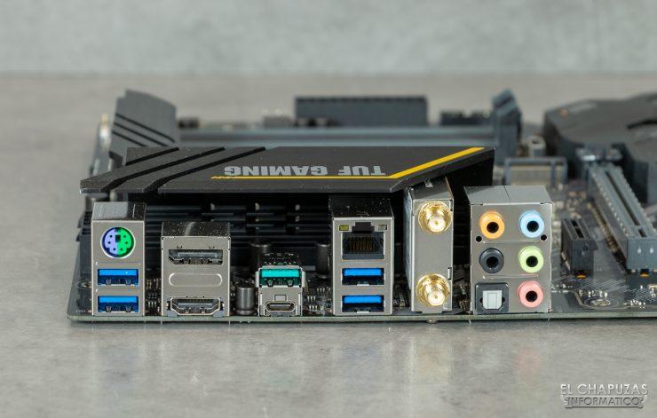 Asus TUF Gaming Z490-Plus (Wi-Fi) - Conexiones traseras