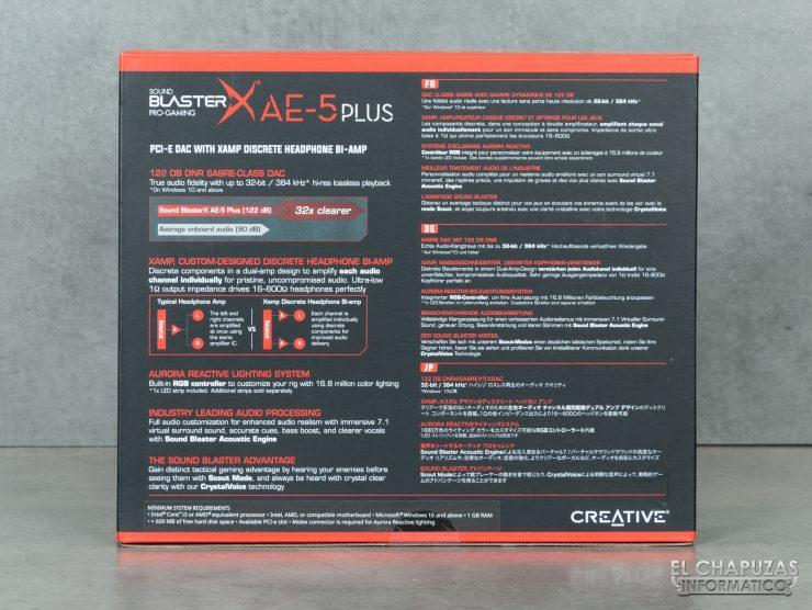 Creative Sound Blaster AE-5 Plus - Embalaje 2