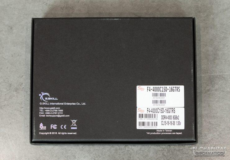 G.Skill Trident Z Royal DDR4 (4000 MHz – CL15) - Embalaje 2