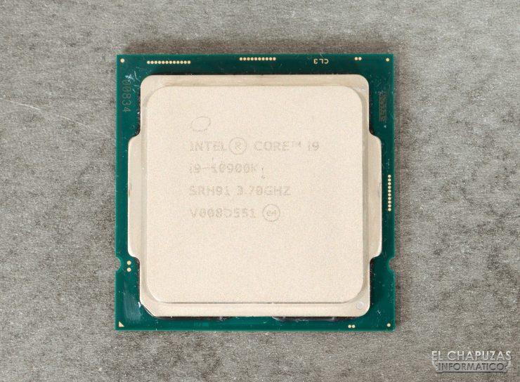 Intel Core i9-10900K - Vista superior