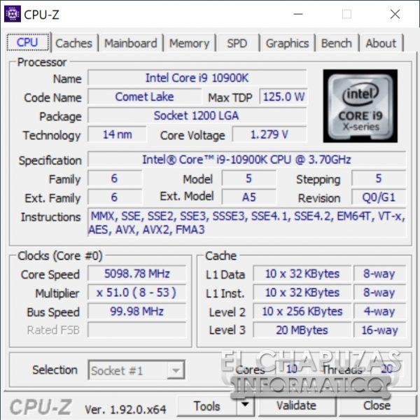 Intel Core i9-10900K - OC