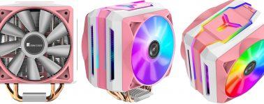 Jonsbo CR-1100: Un colorido disipador rosa chicle con triple iluminación ARGB