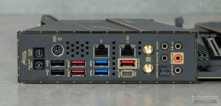 MSI MEG Z490 Ace - Conectores traseros