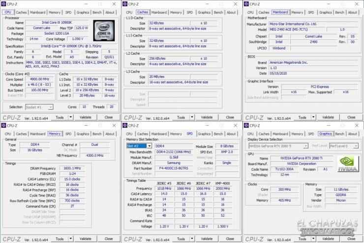 MSI MEG Z490 Ace - CPU-Z