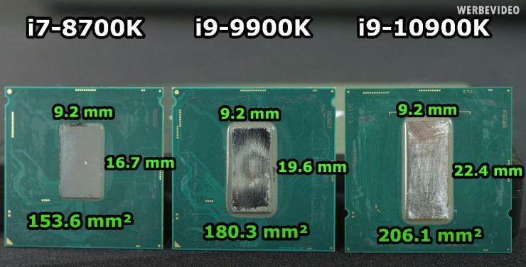 die Core i7 8700 vs Core i9 9900K vs Core i9 10900K 1 740x376 0