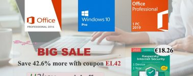 Llévate tu licencia de Windows 10, Office o una licencia de Antivirus Kaspersky