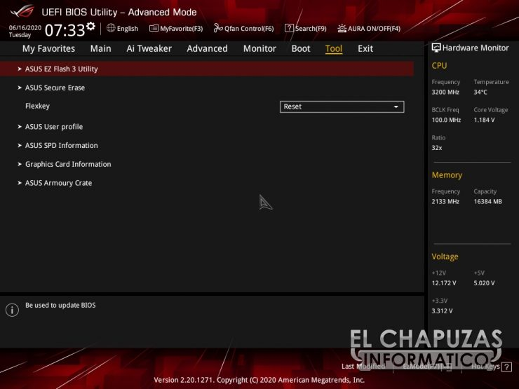 Asus ROG Strix B550-E Gaming (Wi-Fi) - BIOS 10