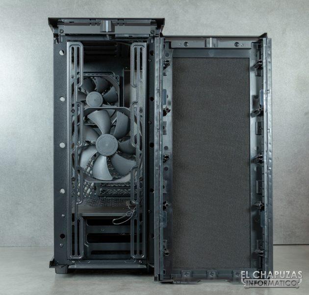 Fractal Define 7 Compact - Interior - Lado frontal abierto
