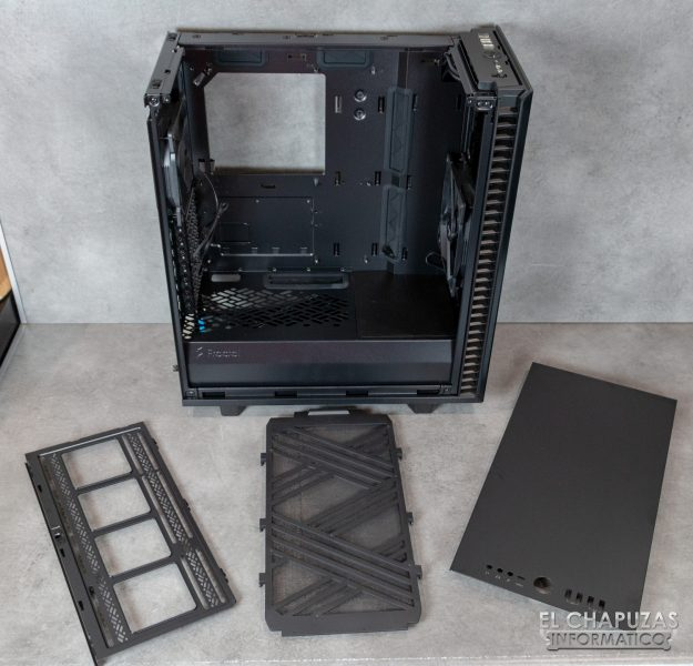 Fractal Define 7 Compact - Interior - Lado superior desmontado