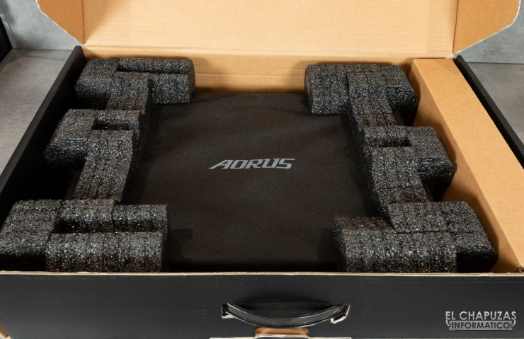Gigabyte Aorus 17G XB - Embalaje interior