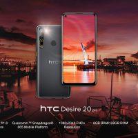 HTC lo vuelve a intentar lanzando dos nuevos smartphones: HTC U20 5G y HTC Desire 20 Pro
