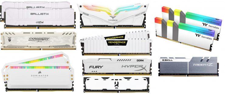 Memoria RAM blanca
