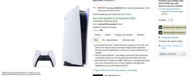 Sony lista la PlayStation 5 con unidad lectora a un precio de 499,99 euros