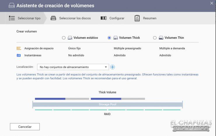 QNAP TS-253D - Software - Creación de volumenes