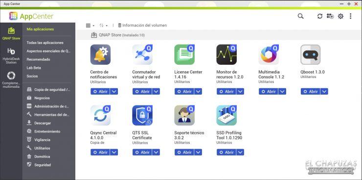 QNAP TS-253D - Software - Tienda Apps