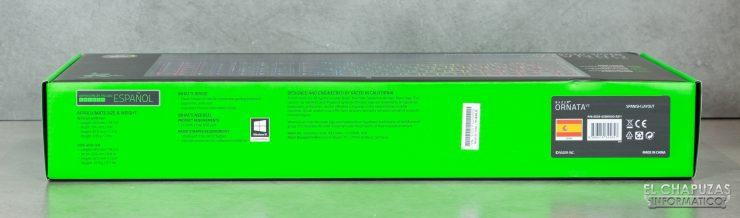 Razer Ornata V2 - Embalaje lateral