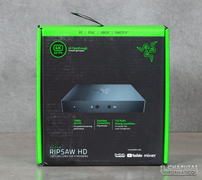 Razer Ripsaw HD - Embalaje frontal